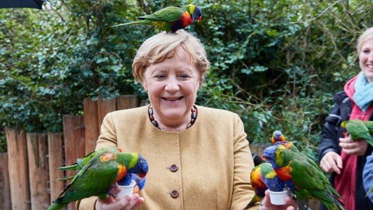 Imagini de senzație cu Angela Merkel.